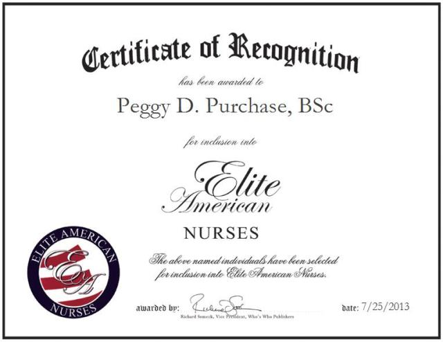 Peggy D. Purchase, BSc